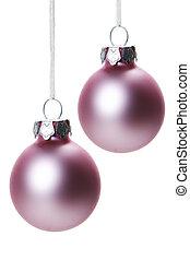 christmas, christmas ornament - pink christmas balls...