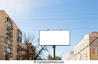 white cut out advertisement billboard outdoors