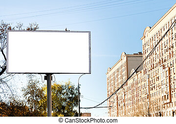white cut out poster panel advertising - urban outdoor...