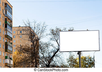 white cut out big advertisement billboard outdoors