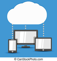 Cloud technology illustration