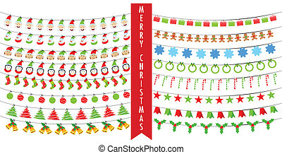 Christmas Bunting - easy to edit vector illustration of...