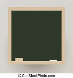 Blank blackboard with chalk and eraser, Vector, EPS10, This...