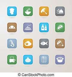 Food icons set, EPS10, This illustration contains...