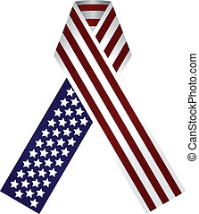 Memorial Ribbon United States of America Use the traditional...