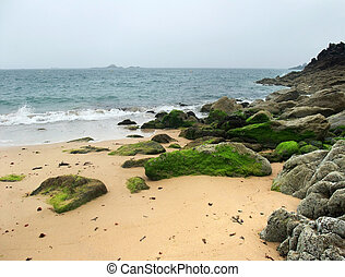 beach around Saint-Malo - beach scenery around Saint-Malo, a...