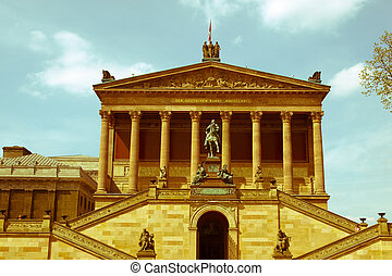 Retro looking Alte National Galerie - Vintage look The Alte...