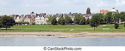 Duesseldorf - View of the town of Duesseldorf in Germany
