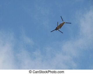 Helicopter rotorcraft - Helicopter rotor craft flying in the...