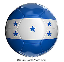 Soccer ball with Honduras flag - Soccer ball with Honduras...