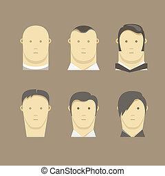 Different men faces style