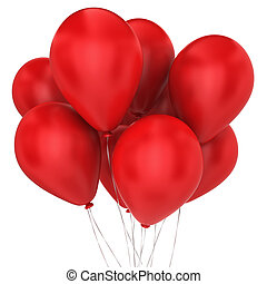Bunch of balloons. 3d illustration on white background
