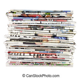 stack of newspapers 01 - large stack of folded newspapers...