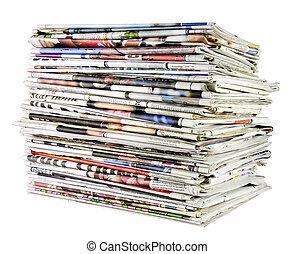Pilha, jornais, 02