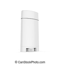 White Deodorant Container isolated on white background. 3D...