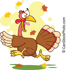 Turkey Escape Cartoon Character - Turkey Escape Cartoon...