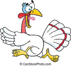 White Turkey Escape Character - White Turkey Escape Cartoon...