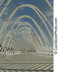 stadium - details of the olympic stadium in athens from 2004