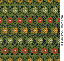 seamless chinese floral pattern - seamless chinese...