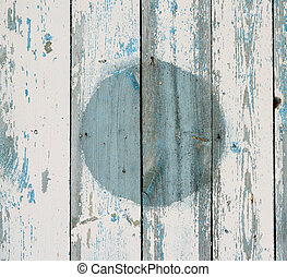 the painted old wooden boards, background