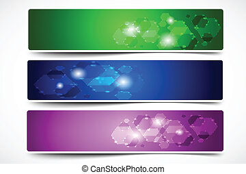 Colorful  Abstract Shape Vector Banner