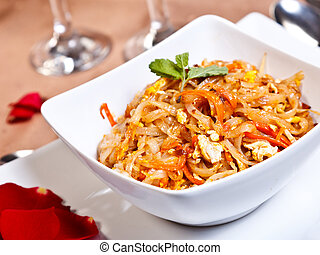 Indian side order food - Phad thai gung - Stir fried rice...