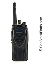 walkie-talkie on white background