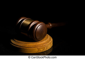 Law concept - Judge\'s gavel