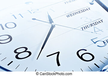 Clock and week days Business concept image