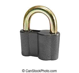 padlock is isolated on a white background