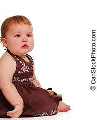 嬰孩, 白色, 集合, 針對, 背景