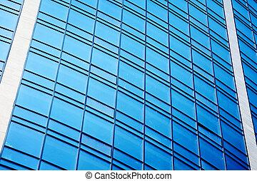 contemporary skyscraper with glass windows