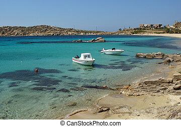 Paranga Beach, Mykonos - Paranga Beach on the island of...