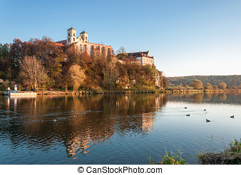 Benedictine abbey in Tyniec in fall, Krakow, Poland -...