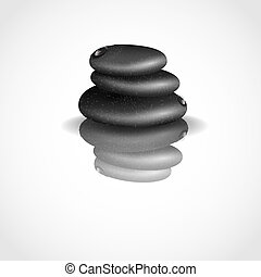 Spa Stones Isolated Vector Illustration Eps 10