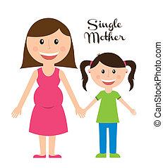unique, mère
