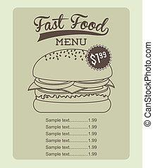 fast food design over beige background vector illustration