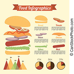 fast food design over cream background vector illustration