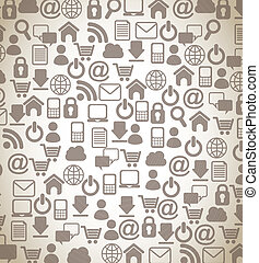 internet icons over beige background vector illustration