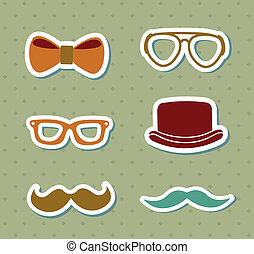 hipster design over dotted background vector illustration...