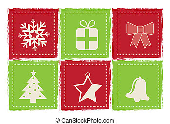 christmas icons over white  background vector illustration