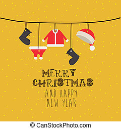 merry christmas design - merry christmas design over yellow...