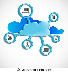 Cloud Computing Concept Vector Illustration Eps 10
