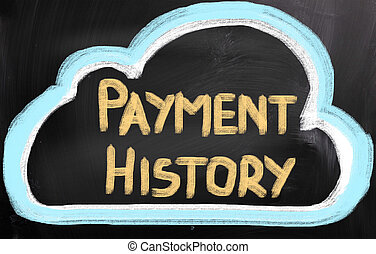 Payment History Concept