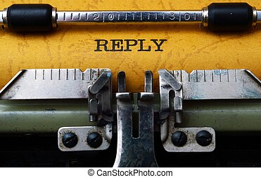 Reply text on typewriter