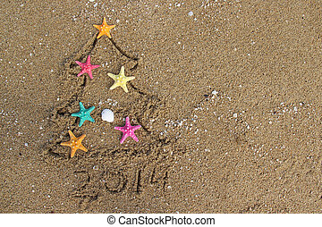Christmas and New Year 2014 on the beach - Christmas and New...