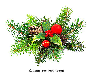 christmas decoration on a white background