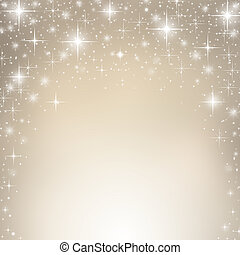 Christmas background - Silver christmas background with...