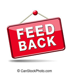 feedback icon. Testimonials and comments help to survey...
