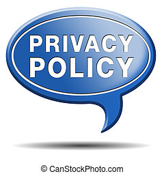 privacy policy blue text balloon - privacy policy and...